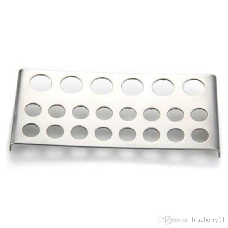 Stainless Steel Shelf Stand Tip Supply Tools 22 Holes Tattoo Pigment Ink Cap Cup Holder Body Beauty Free Shipping