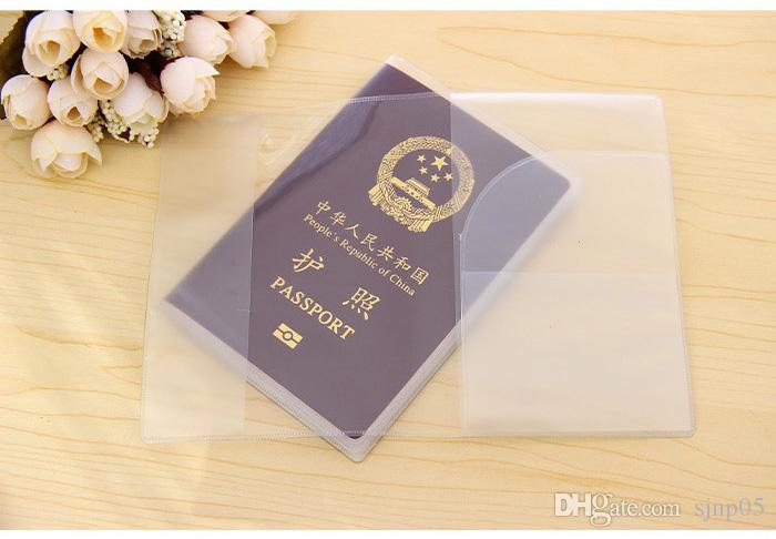 5 Pack Transparent Passport Cover Credit Id Card Case Organizer Travel Protector