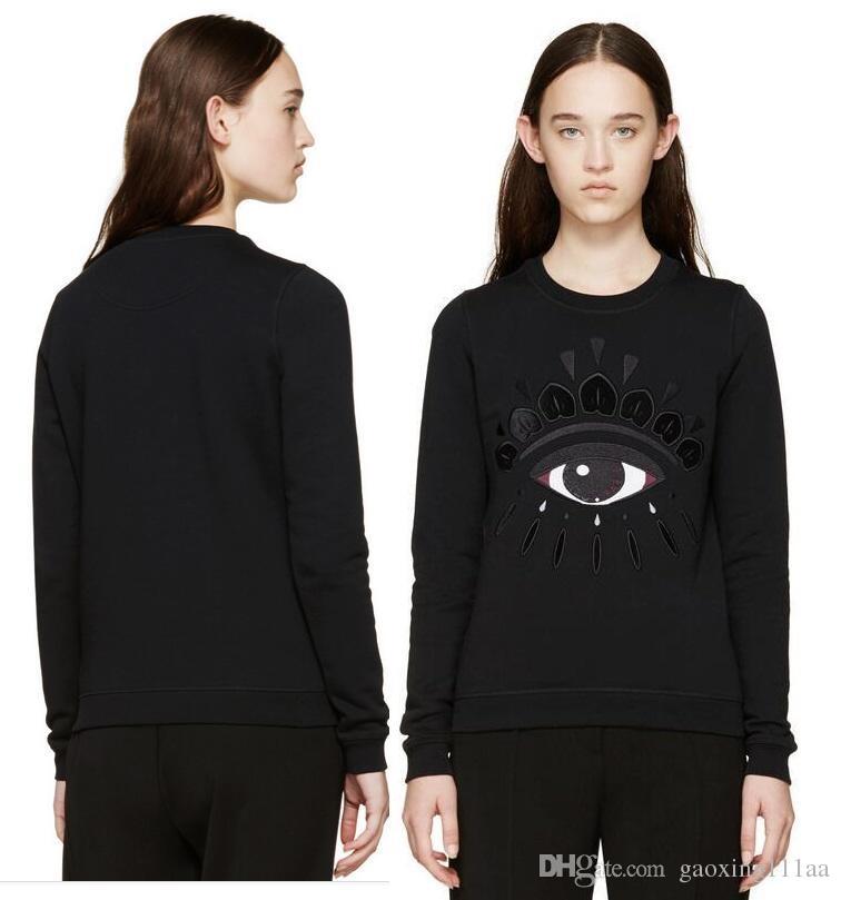 새 브랜드 고품질 봄 레이디 패션 수 놓은 눈 스웨터 연인들 양털 풀오버 스웨터 탑스 까마귀