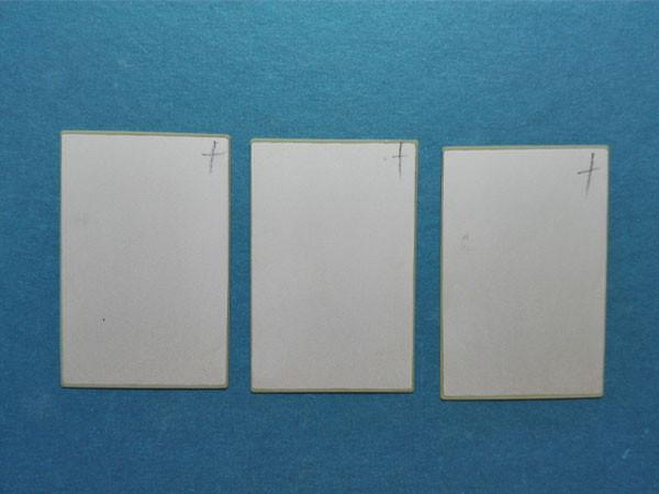 Plaque de céramique piézoélectrique 48 * 32 * 0.2mm - Capteurs piézoélectriques PZT5 recevant une feuille PZT Accessoires Élément piézo-céramique