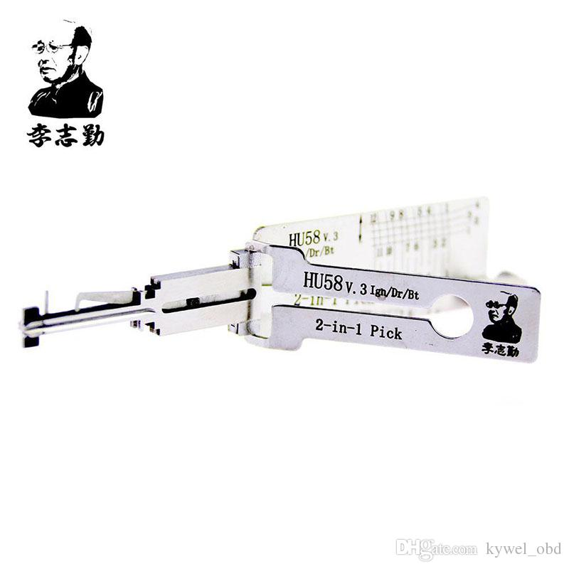 Original Lishi HU58 2 in 1 Decoder and Pick for Morgan/Old BMW 100% Genuine Lishi Tools with External Milling Four Tracks