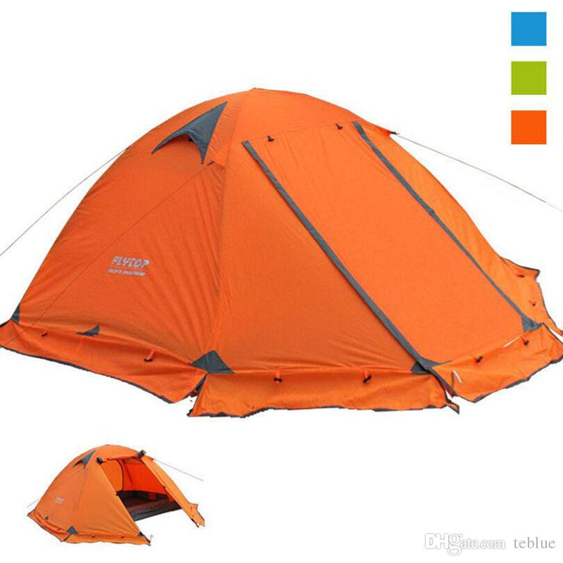 Camping tent 2 person Beach Tourist tents 4 seasons waterproof outdoor recreat fishing camping equipment Snow skirt FLYTOP