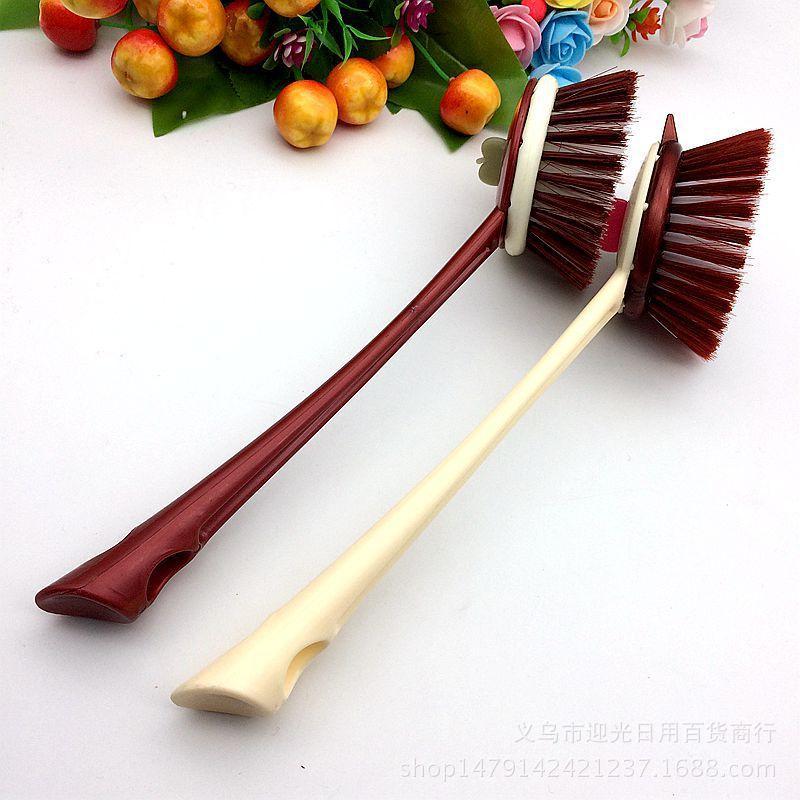 Kitchen long plastic handle, pan brush, multi-function kitchen cleaning, brush hot, washing pan wholesale brush