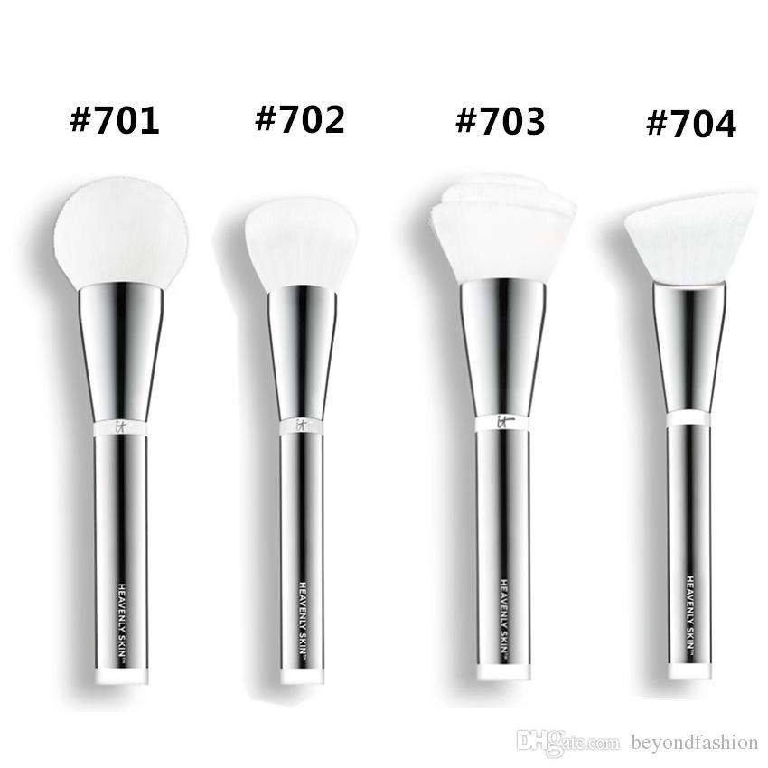 العلامة التجارية الجديدة ماكياج فرش أنه مستحضرات التجميل الجلد السماوية # 701 # 702 # 703 # 704 مزج مسحوق الأساس كفاف تشكل أدوات عدة الفرشاة.