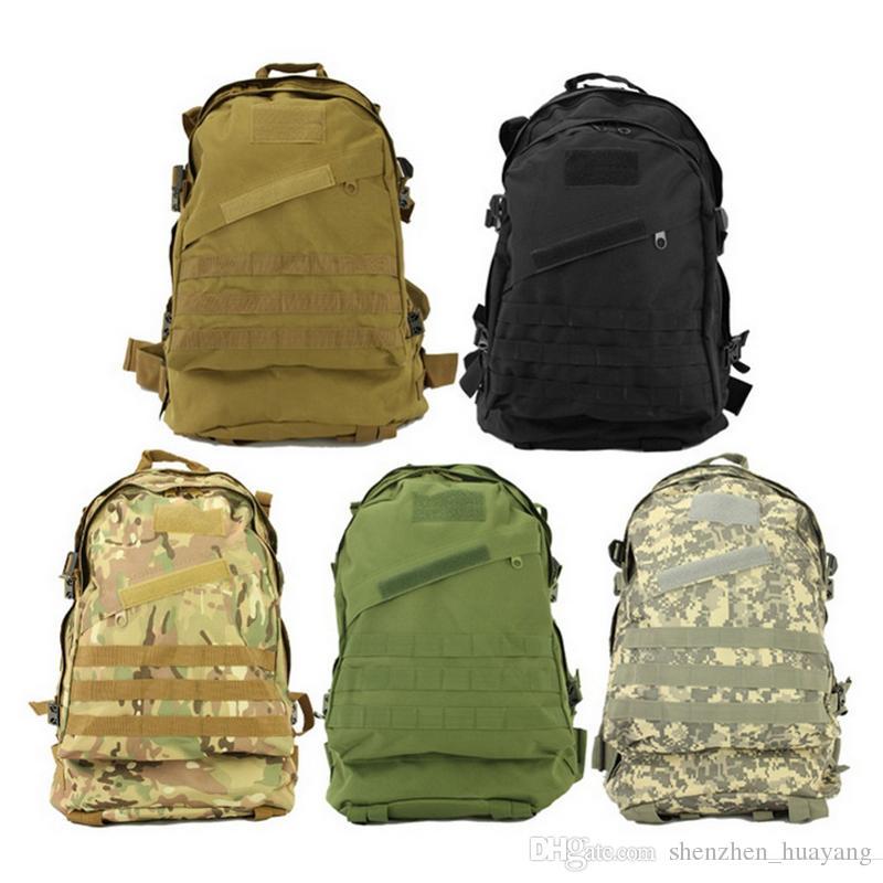 10 pcs New Unisex Esportes Ao Ar Livre Molle 3d Militar Tático Mochila Mochila Saco de Acampamento Viajar Caminhadas Trekking 40L (DY)