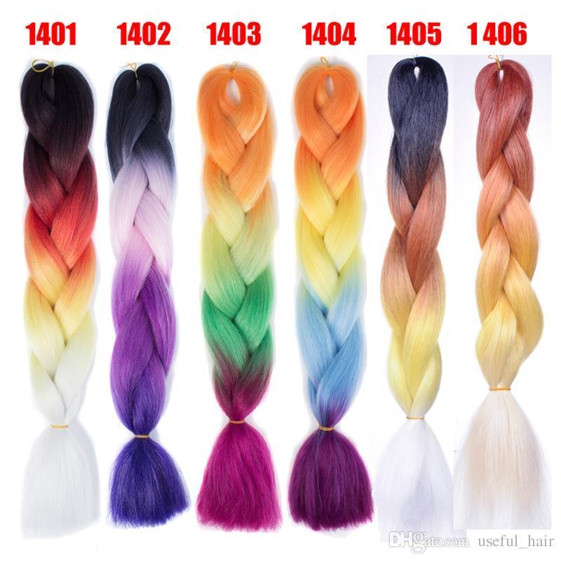 Trenzas jumbo Xpression Brading Hair colores morados trenzas de ganchillo tres tonos de color sintético Extensiones de cabello marley para mujeres negras