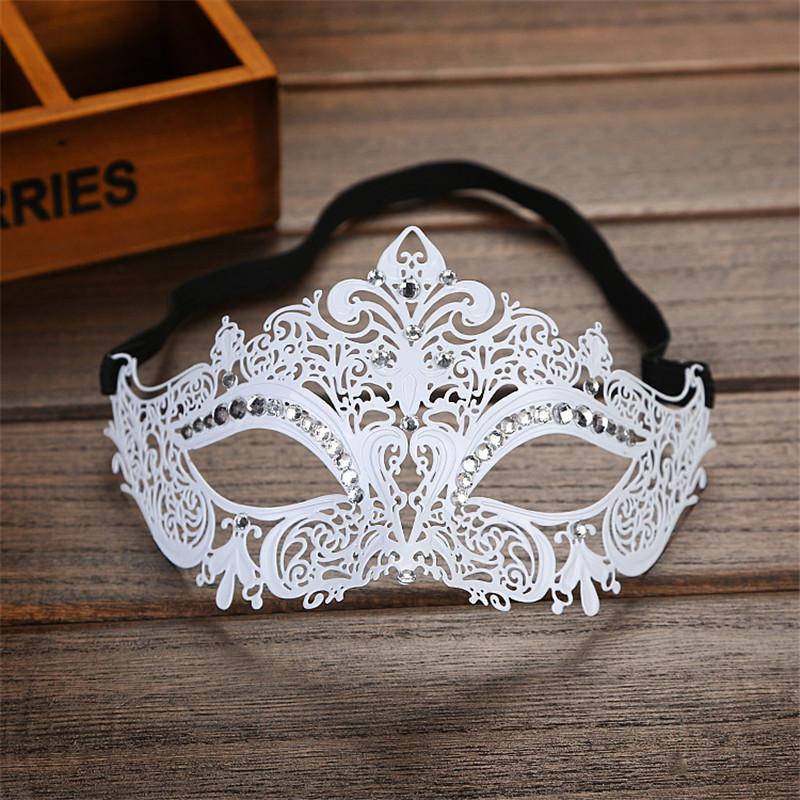 Diamantes De Imitación Metal De Lujo Veneciano Masquerade Máscara De Filigrana Corte Láser Blac O3F5