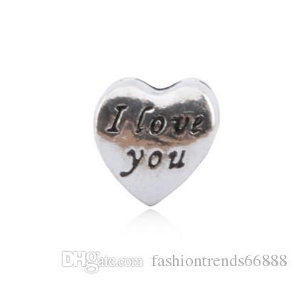 20 X HEART /'I LOVE YOU/' TIBETAN SILVER COLOUR CHARMS//PENDANTS,JEWELLERY MAKING