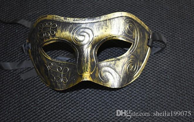 Halloween Natale 2016 a tempo limitato vendita calda maschera di Bauta di plastica Darth Vader casco maschere mascherate Mens Knight Baron prestazioni colorate