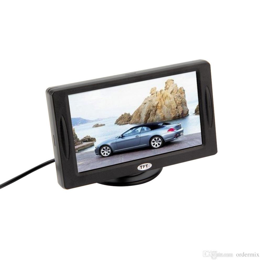 """Классический стиль 4.3 """" TFT LCD заднего вида автомобильные мониторы для DVD GPS обратный резервного копирования камеры автомобиля вождения аксессуары"""
