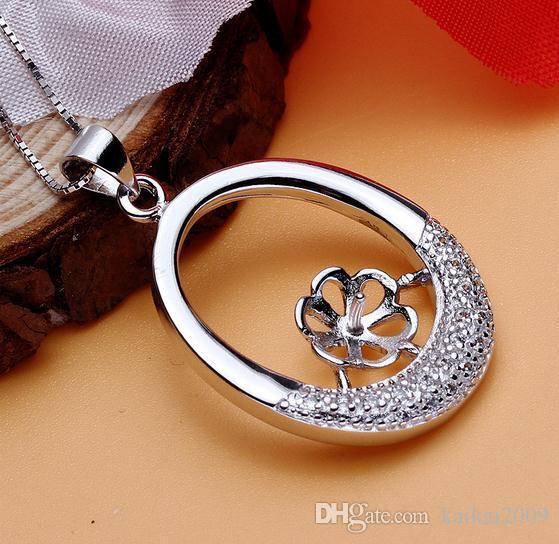 Heißer Verkaufs-eingelegter Zirkon natürliche Perlen-hängende Halsketten-Großhandelszusatz DZ0172
