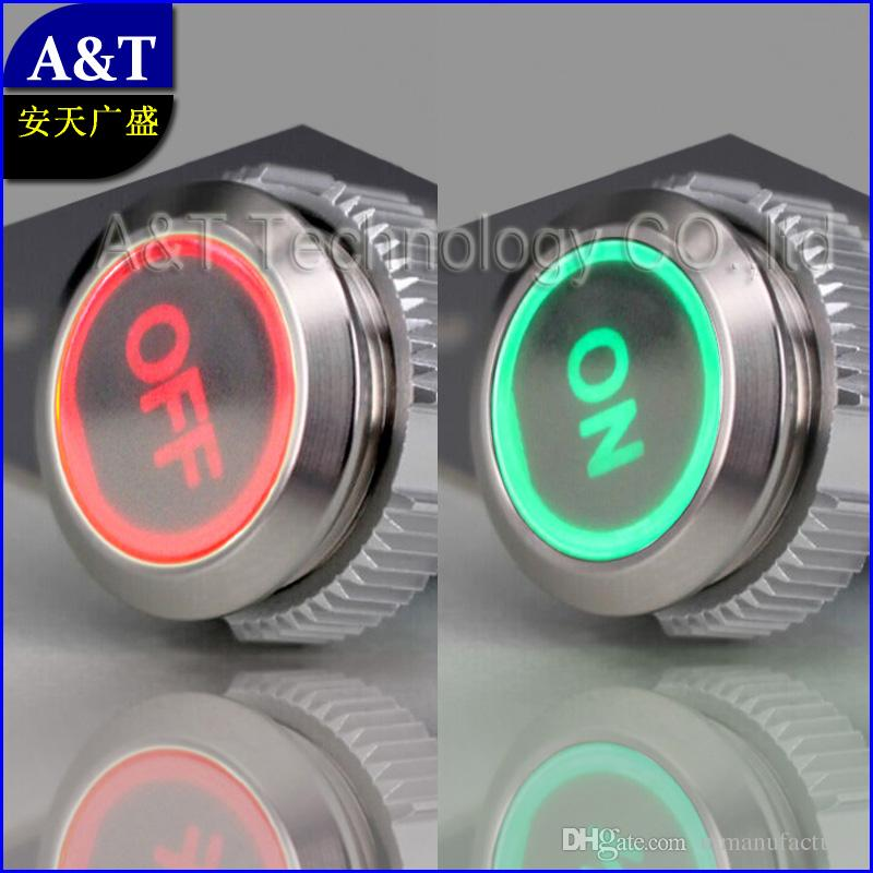 2019 Dual Led Red Green On Off Symbol 12v 24v 220v Light Illuminated Auto Switch Anti Vandal Latching Push Button Switch From Utmanufacturer 658 3