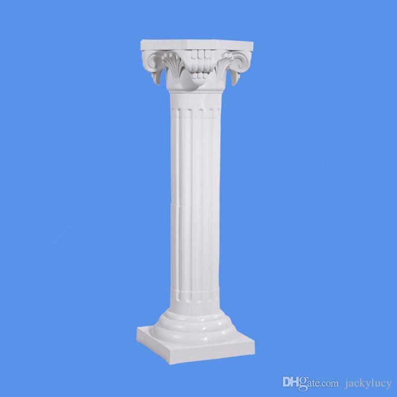 النمط الراقي الأعمدة الرومانية اللون الأبيض أعمدة بلاستيكية الطريق استشهد الدعائم لوازم الزفاف الحدث الديكور 10 قطعة / الوحدة