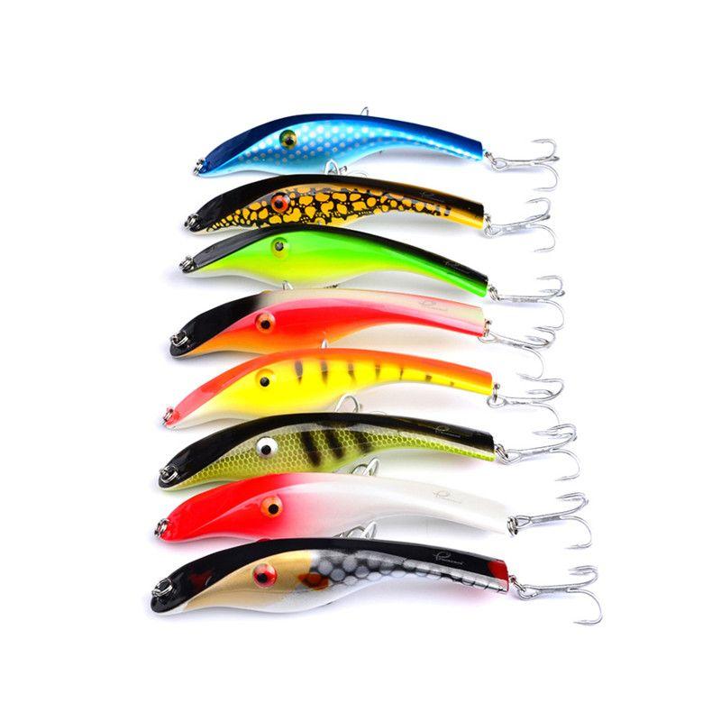 Yeni Parlak Renkler Lazer Kalem Crankbait 14.5 cm 44g Fly Balıkçılık Büyük lures Derin Dalış swimbaits