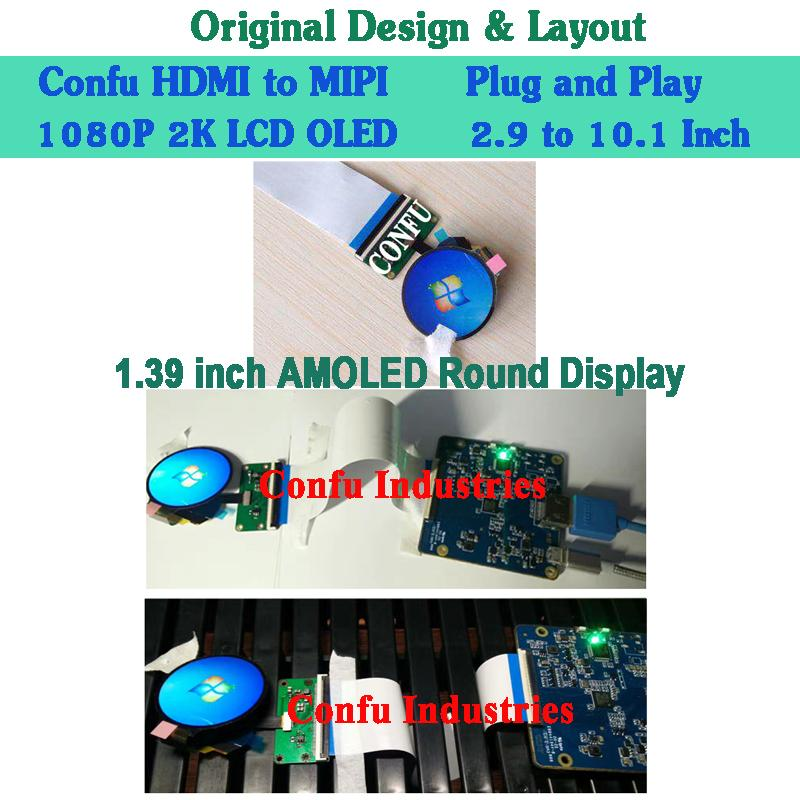 HDMI To MIPI DSI Converter Adapter Driver Board For 1 39 Inch 400*400 Round  Circular AMOLED LCD Display For Watch China Gagets Latest Technologies