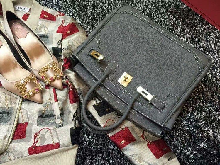 2016 Luxury H Handbag Women\`s Litchi Cowhide Messenger Bag Genuine Leather Famous Designer Shoulder Crossbody Totes Ladies Bolsa (25)