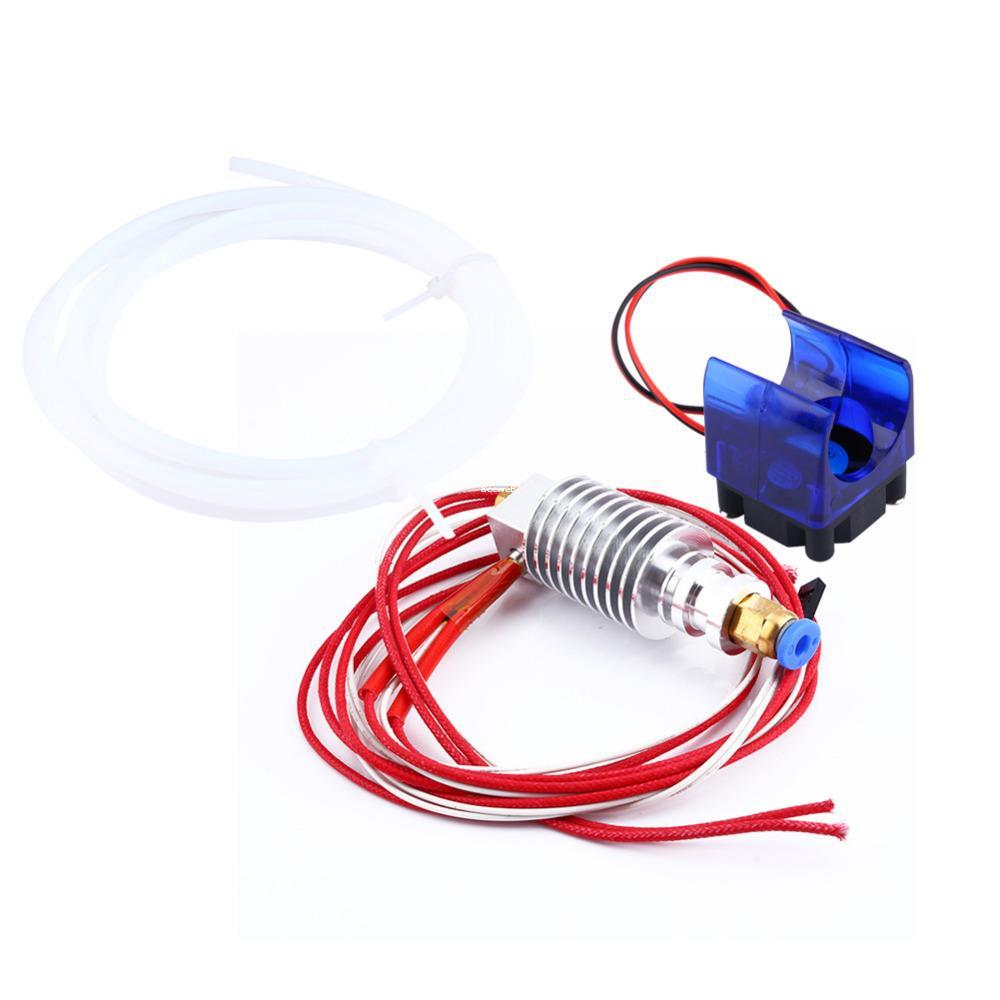 Freeshipping Cool 3D Printer Extruder Long-distance J-head Hotend for 1.75MM/0.3MM Filament Fan PTFE Tubing 3D Printer Parts & Accessories