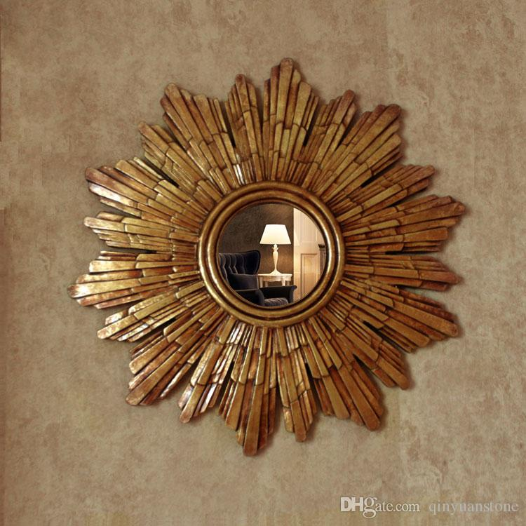 Dia57cm European Style Wall Decorative Mirrors Sun Mirrors For Wall Mirrors Canada 2020 From Qinyuanstone Cad 285 49 Dhgate Canada