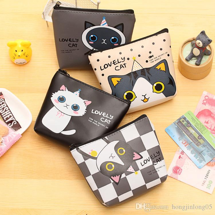 2017 New Brand Women Girls Cute Cat Fashion Coin Purse Silicon Wallet Bag Change Pouch Key Holder Perfect Gift Free Shipping