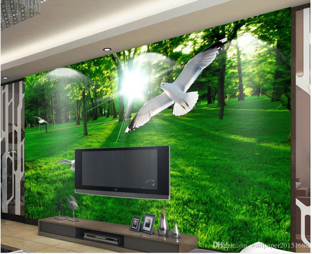 modern beautiful forest grass sunshine mural tv wall mural 3d modern beautiful forest grass sunshine mural tv wall mural 3d wallpaper 3d wall papers for tv
