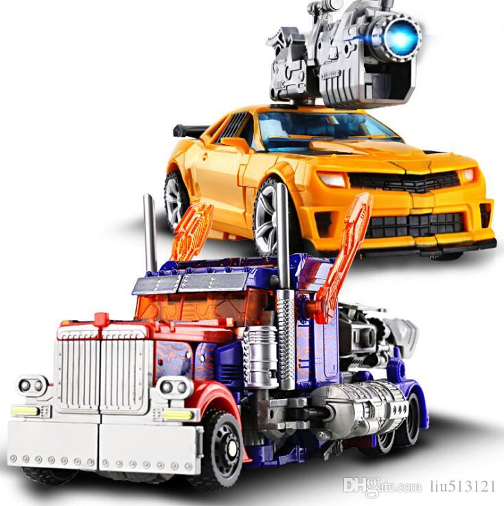 28pcs Educational Toy for boys Transformer Toys Robot Puzzle Children new model toy Christmas gift Yellow color toys for over 3 years kids