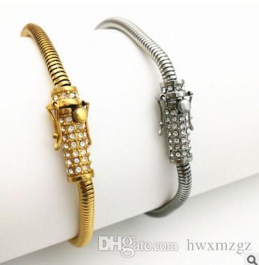 14K oro hombres y mujeres ronda serpiente pulsera collar seguro hebilla high-end con la moda