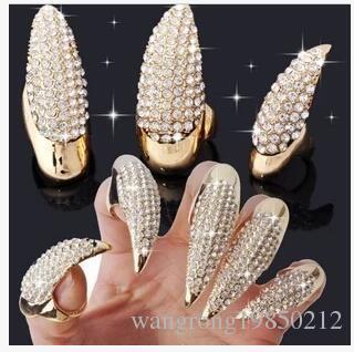 Europa e os Estados Unidos Comércio Exterior Preto Anel de Ouro Set Auger Talons Nails Diamond-Enrusted unha Eagle Garra Anel