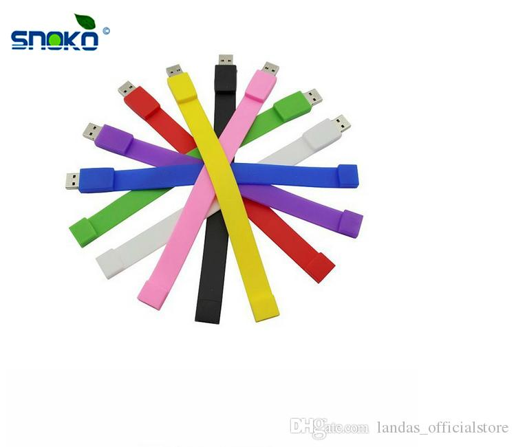 Pen drive 8GB Bracelet Wrist Band USB Flash Drive 4GB 16GB 32GB 64GB U disk Custom logo high-end Pendrives for School students gift