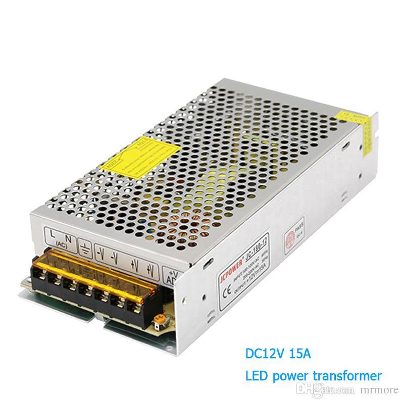 Transformadores de iluminación AC 110V 220V a DC12V Controlador de luces LED de alta calidad para fuente de alimentación de tira de LED 15A 180W fuente de alimentación conmutada adapta