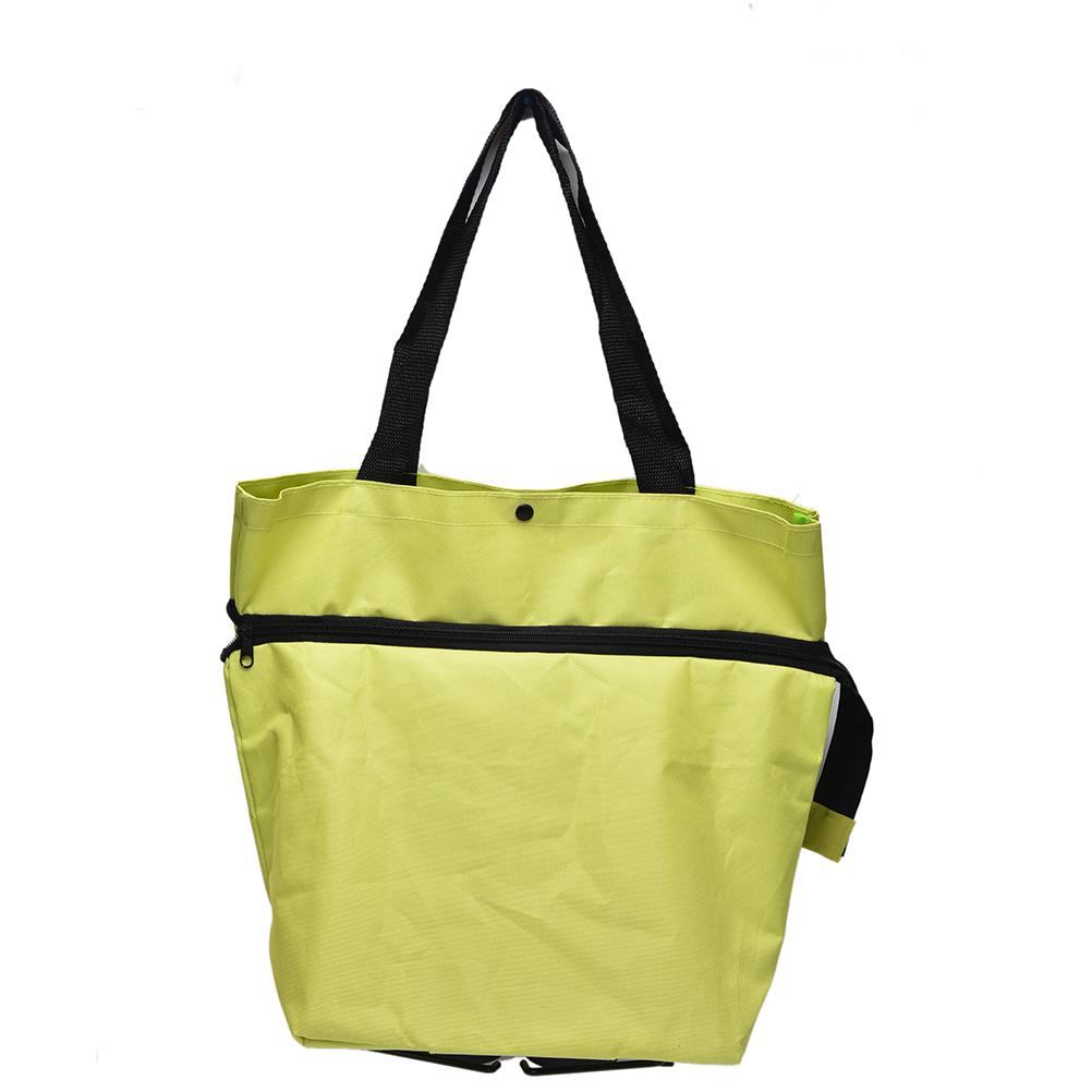 Canvas tote bags on wheels - 2017 Canvas Shopping Bag Reusable Shopping Bag Oxford New Shopping Trolley Bag On Wheels Bags On