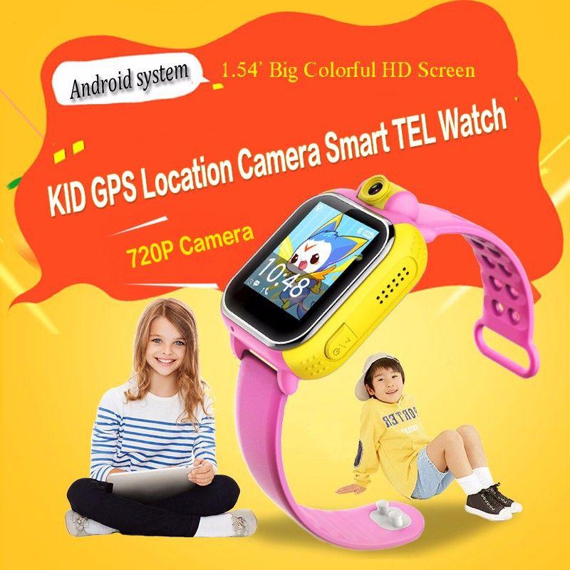 Intelligente orologio da polso per bambini Q730 3G GPRS localizzatore GPS Tracker anti-perso Smartwatch Baby Watch con fotocamera per IOS Android