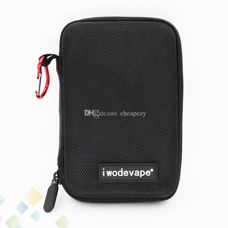 iwodevape Black Bag E Cigarette Vapor Pocket E Cig Case Portable Small Bag DIY Tool Cases Fit Electronic Cigarette DHL Free