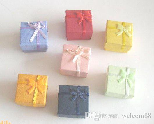 24pcs/lot 4.5x4.5x3cm Jewelry Packaging Ring Earring Gift Box For Jewelry Gift Free Shipping BX2