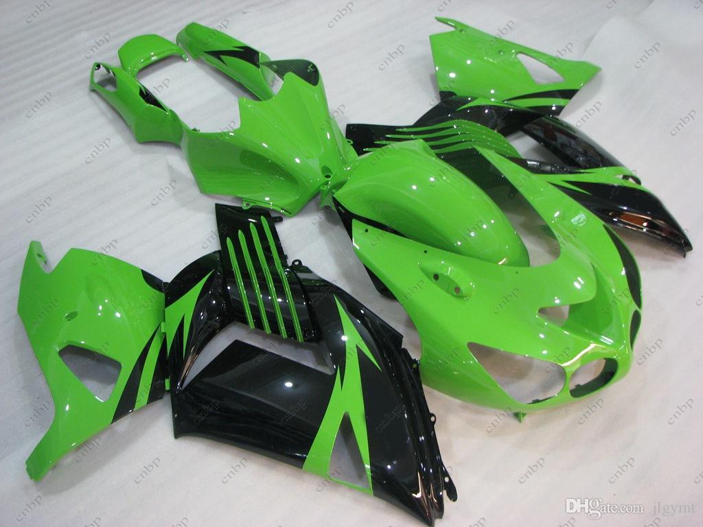 ABS Verkleidung für Kawasaki Zx14r 2011 Karosserie-Kits ZZR 1400 2010 Grün Schwarz Verkleidung Kits Zx14 Zx-14r 08 09 2006 - 2011