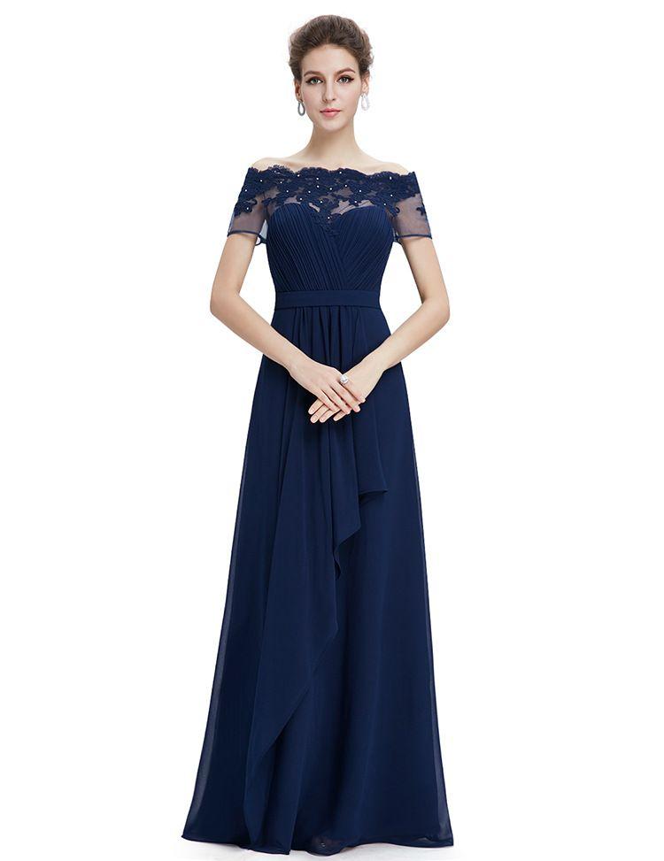 Robe bleu marine chic pour mariage