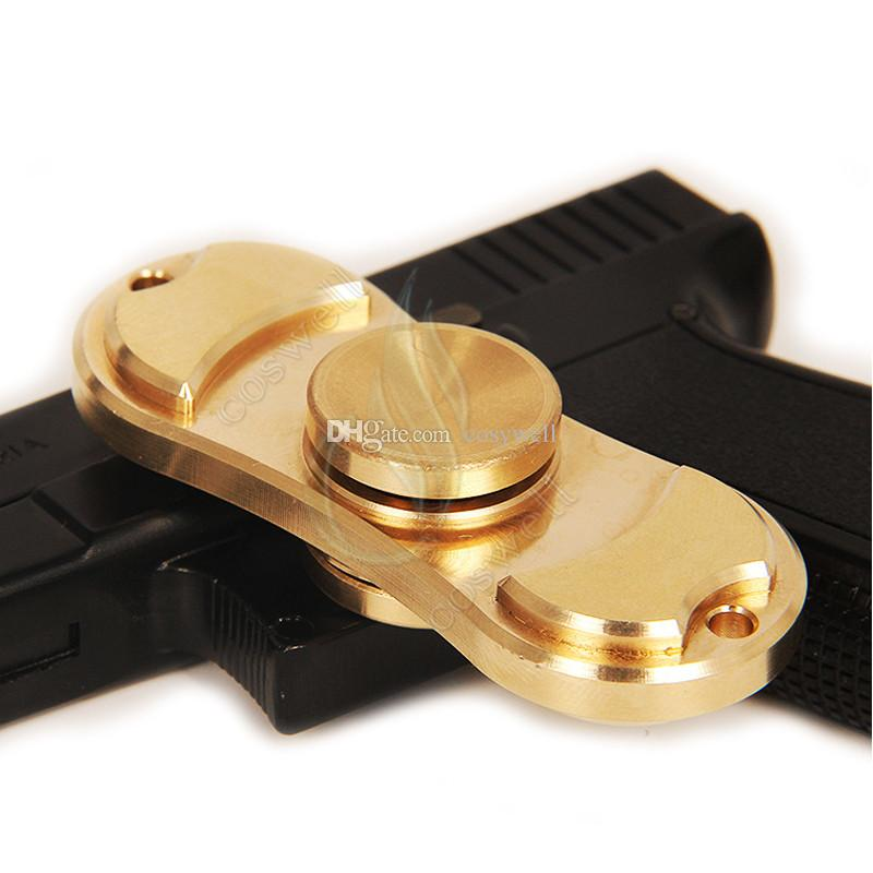 New Pure Brass Fid Spinner Toy Hand Spinners golden Torqbar Style
