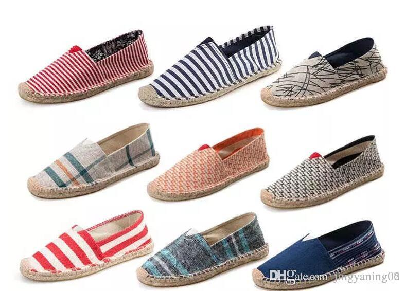 2017 tous les nouveaux amateurs occasionnels toile chaussures coton lin respirant léger unique résistant à l'usure chaussures taille 35-45 ventes en gros