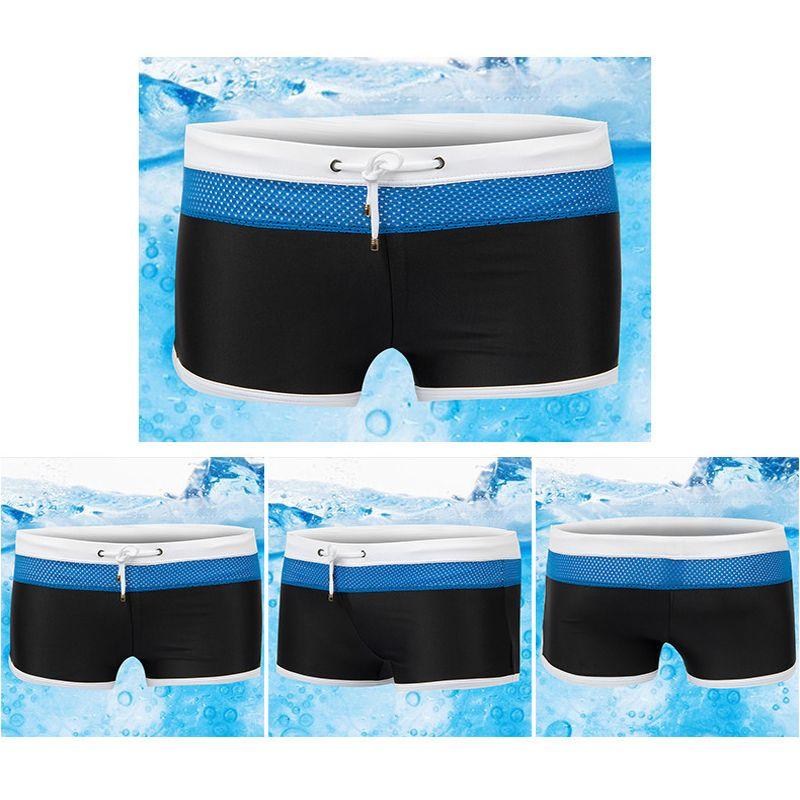 Men's Swim Shorts Racing Swimsuit Mesh Briefs Breathable Swimwear Net yarn Men Boxer Board Shorts Gay Pouch WJ Penile bag free shipping