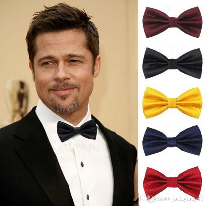 2021 Fashion Mens Bow Ties Solid Color Plain Satin Skinny Ties Groom  Groomsmen Suits Necktie Silk Jacquard Woven Tie From Jackylucy00, $1.01    DHgate.Com