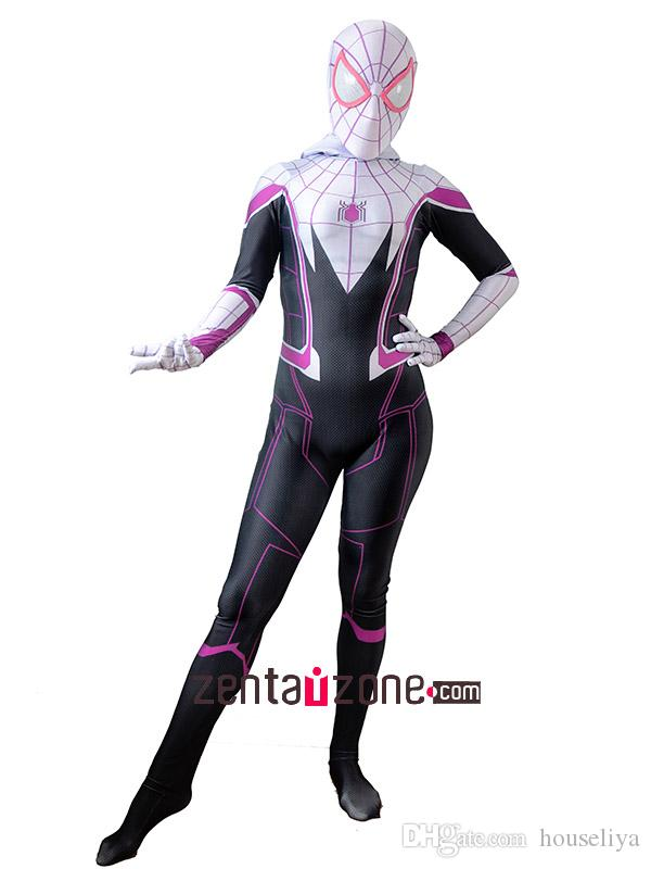 Gwen Stacy Costume The Amazing Spider-Man Gwen Stacy Suit for Adult Kids