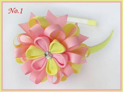 """100 BLESSING Good Girl Modern Style Headband 3.5/"""" A-Bird/'s Nest Hair Bow 158 No."""