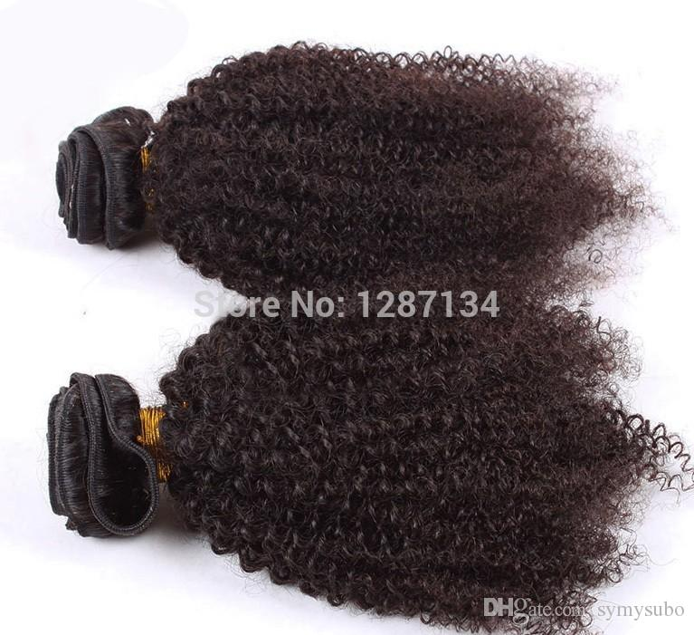 natural color hair weaves grade 5a+ unprocessed virgin brazilian afro kinky curly hair 1pc/lot 100% human remy brazilian hair