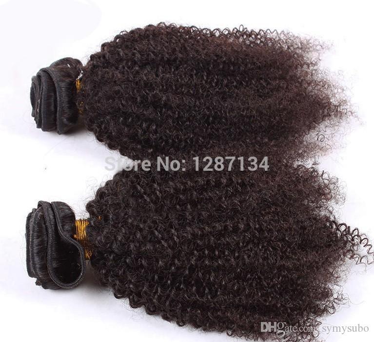 natürliches Haar spinnt Grad 5a + unverarbeitetes reines brasilianisches afroverworrenes lockiges Haar 1pc / lot 100% menschliches remy brasilianisches Haar