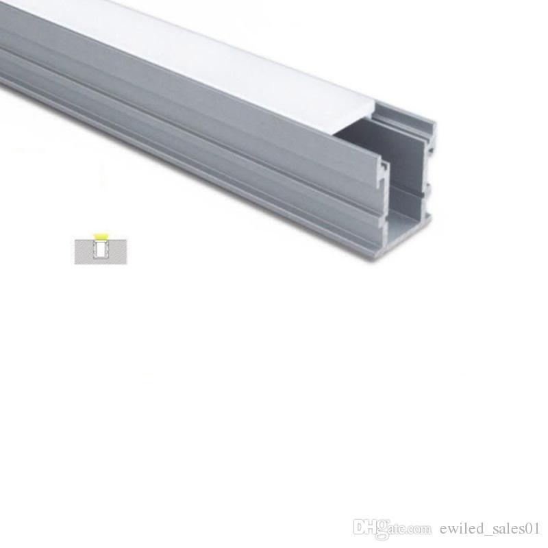 50 X 1M наборы / серия алюминий водить канал крышка линии и водонепроницаемый тип U водить профиль для земли или утоплен торшер
