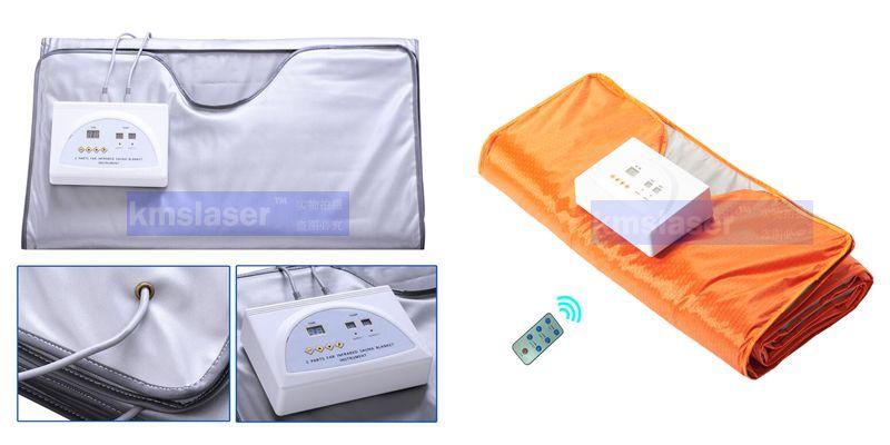Fat burning Waterproof 2 Zones Far Infrared Blanket Sauna Slimming weight loss heating therapy/slimming machine/ Freeshipping
