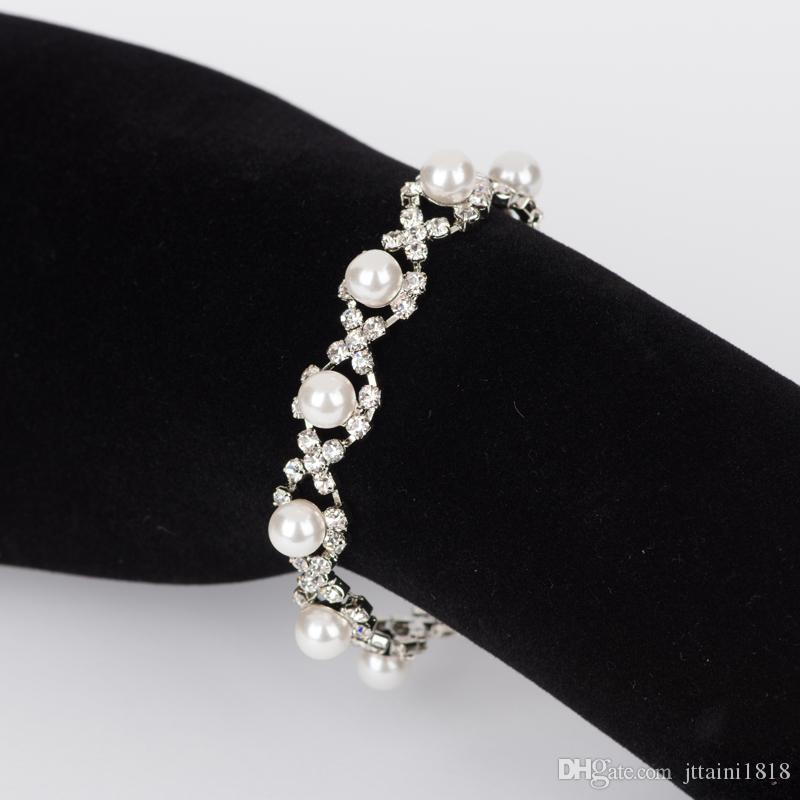 2017 handmade europeo americano braccialetti di fascino braccialetti di cristallo placcato argento braccialetti per le donne gioielli accessori all'ingrosso