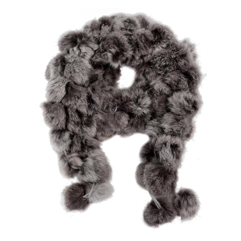 Desgaste al por mayor SAF 2016 NUEVO suave pelaje de invierno de cuello del calentador del cuello de la bufanda del mantón del abrigo gris