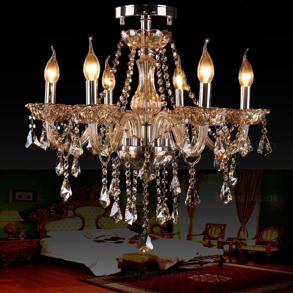 Free Shipping Fashion ceiling chandelier light living room lamps bedroom lamp candle crystal lighting ceiling Chandelier Lights
