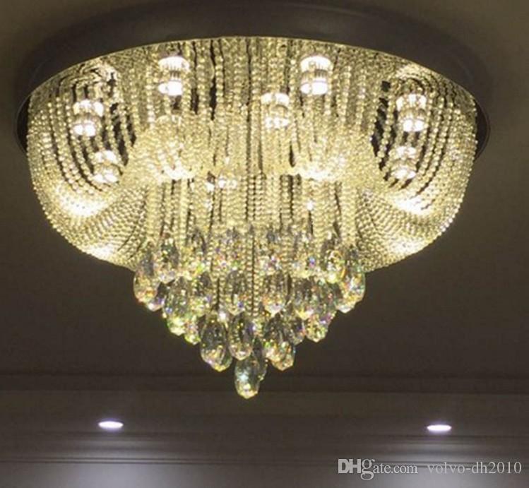 lusso design moderno lampadario di cristallo luci plafoniere lustro soggiorno lampadario hotel lampadario LED luce LLFA