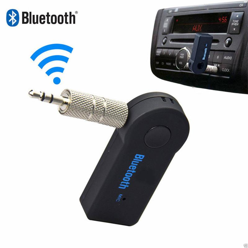 Wholesale- Auto-drahtloser Bluetooth AUX Audio-Empfänger-Adapter 3,5-mm-Audiomusik-Empfänger Bluetooth Car Kit Stereo-Lautsprecher